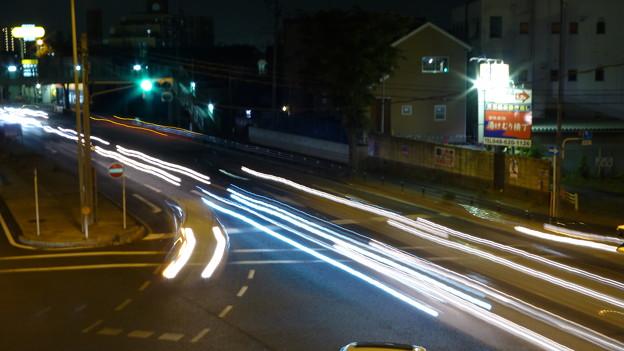 夜のバイパス1