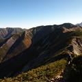抜戸岳への稜線