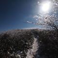 白い登山道