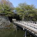 写真: 130506-9中部地方ツーリング・高島城・冠木橋
