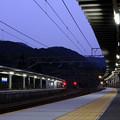 夜明け前の新疋田駅