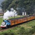 トーマス列車 有名撮影ポイントにて