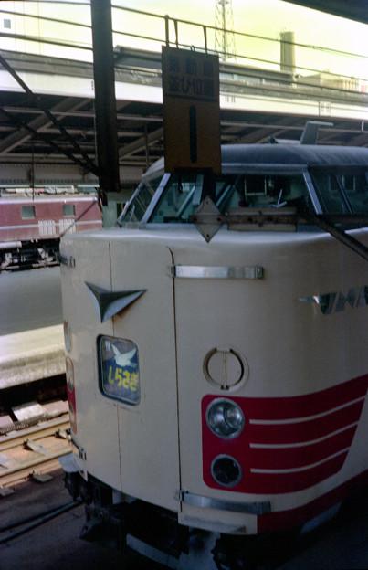 0047 485系特急しらさぎ ハイアングルにて EF58茶と共に