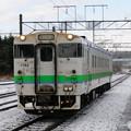 017 登別駅に到着するローカルDL