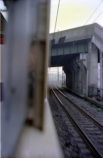 S58 117系名古屋~熱田間(現金山駅過ぎた辺り)