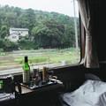 Photos: 15 2003_6_23 トワイライトEXP(下り)ウエルカムワインに酔いベッドを仕立て小休止