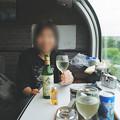 Photos: 31 2003_6_28 カシオペア(上り)ウエルカムワインで乾杯