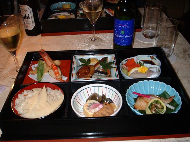 37 2003_6_28 カシオペア(上り)食堂車 懐石御膳 ほぼ酒のアテです