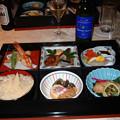 Photos: 37 2003_6_28 カシオペア(上り)食堂車 懐石御膳 ほぼ酒のアテです