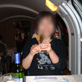 38 2003_6_28 カシオペア(上り)食堂車で乾杯 またもワイン!