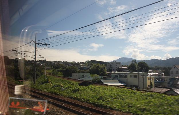 2008年8月〔02〕白馬旅行 恵那駅発車後の明智鉄道分岐と恵那山