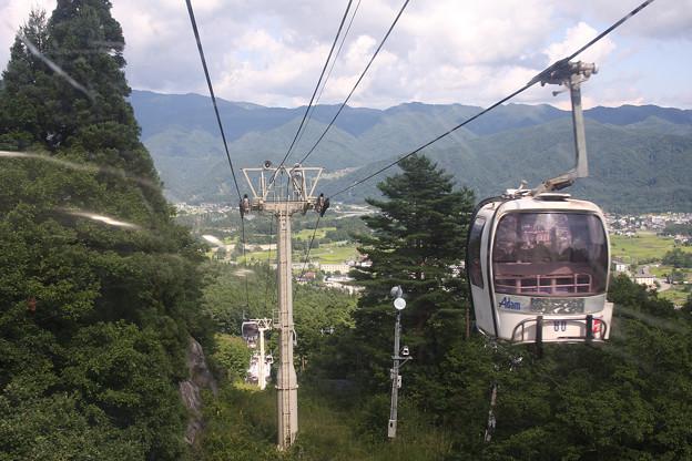 2008年8月〔15〕白馬旅行 八方尾根スキー場ゴンドラ離合
