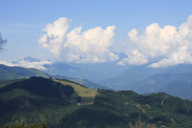 2008年8月〔19〕白馬旅行 八方尾根スキー場から望む白馬岳(?)