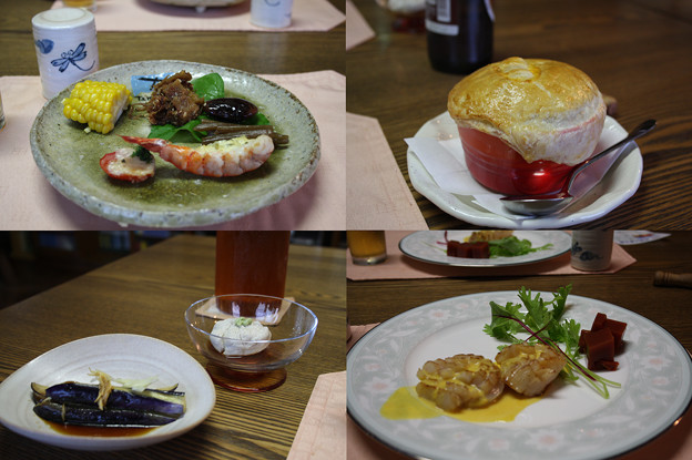 2008年8月〔31〕白馬旅行 美味しかった夕食