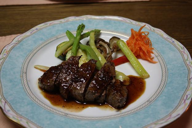 2008年8月〔32〕白馬旅行 美味しかった夕食のメイン お肉