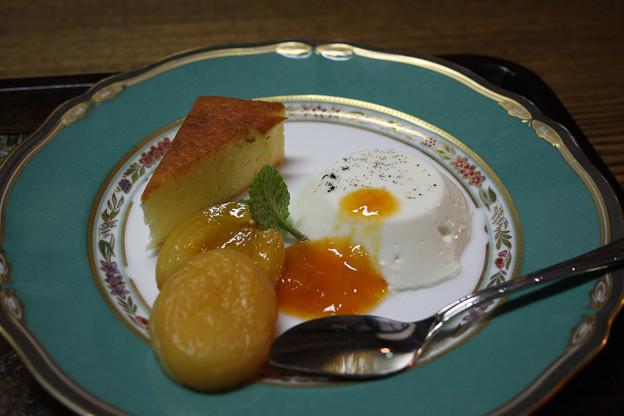 2008年8月〔33〕白馬旅行 美味しかった夕食後のデザート