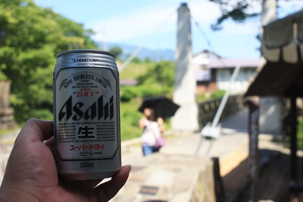 2008年8月〔53〕白馬旅行 空気が旨けりゃビールも格別!