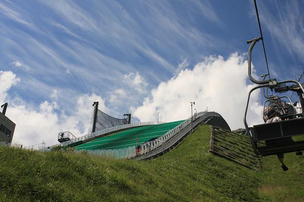 2008年8月〔60〕白馬旅行 着地点でも凄い傾斜