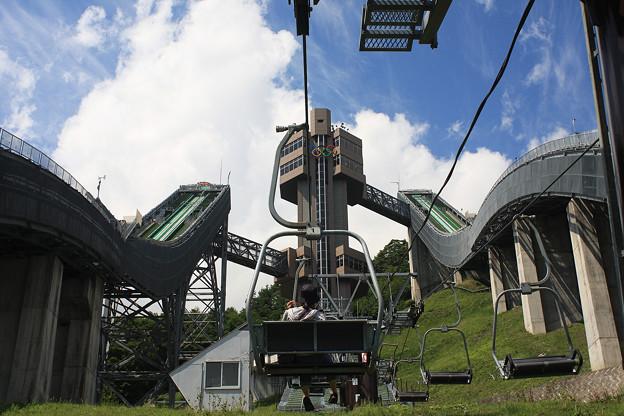 2008年8月〔62〕白馬旅行 ジャンプ台へのアプローチ