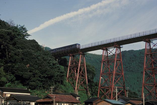 1986年8月山陰旅003 餘部鉄橋 特急出雲3号(再スキャン)