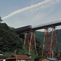 Photos: 1986年8月山陰旅003 餘部鉄橋 特急出雲3号(再スキャン)