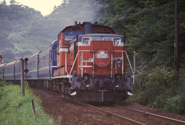 Photos: 1986年8月山陰旅004 諸寄 特急出雲3号(再スキャン)