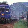 Photos: 1986年8月山陰旅005 諸寄 特急出雲3号(再スキャン)