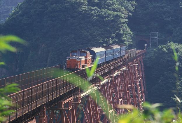 1986年8月山陰旅013 餘部 旧客普通列車(再スキャン)