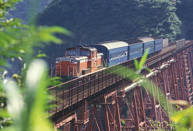 1986年8月山陰旅014 餘部 旧客普通列車(再スキャン)