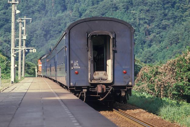 1986年8月山陰旅015 餘部 旧客普通列車(再スキャン)