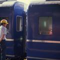 1986年8月山陰旅029 ブルトレ出雲1号 後ろ5輌切離し(再スキャン)