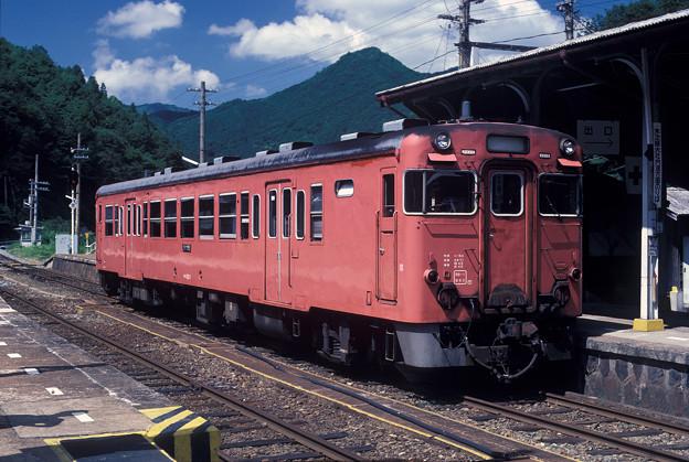 1986年8月山陰旅036 キハ53トップ 備後落合駅(再スキャン)