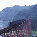 Photos: 1986年8月山陰旅062KR 山陰本線 餘部鉄橋と旧客(再スキャン)