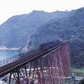 Photos: 1986年8月山陰旅063KR 山陰本線 餘部鉄橋と旧客(再スキャン)