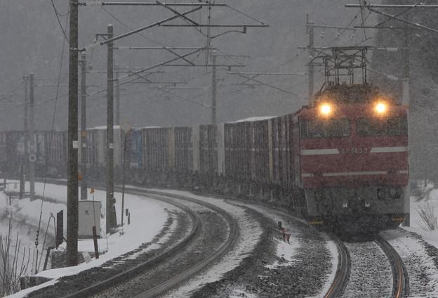 2008年2月 南今庄 上り81牽引貨物