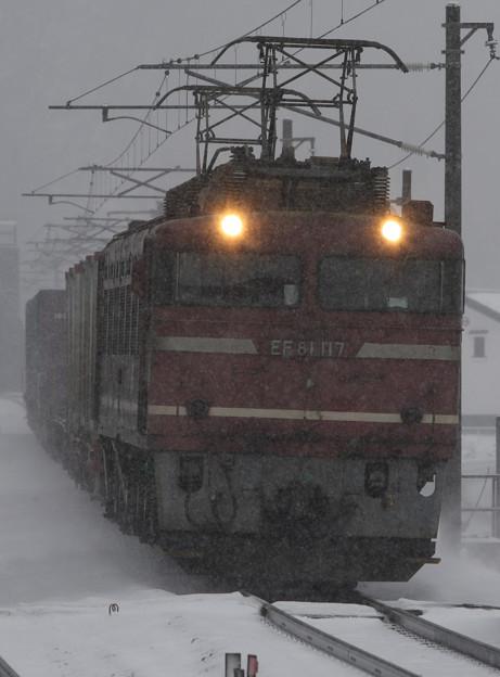 2008年2月 下り81牽引貨物