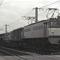 1986年頃 旭川を渡るEF65下り貨物