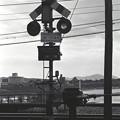 Photos: 1986年頃 旭川堤防にかかる踏切