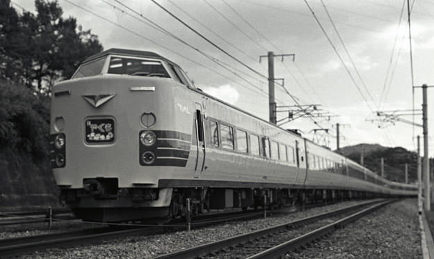 1986年頃 381系特急やくも9両編成