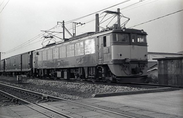 1986年頃 EF62荷物列車(ピンボケご容赦)