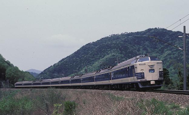 【ポジ再スキャン】583系(クハネ581)雷鳥(1987年)