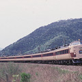 Photos: 【ポジ再スキャン】485系300番台しらさぎ(1987年)