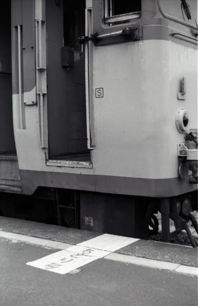 (再スキャン)1986年 急行ちどり ホームの乗車位置