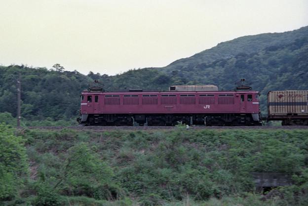 (再スキャン)1990年 EF81 137号機牽引貨物列車
