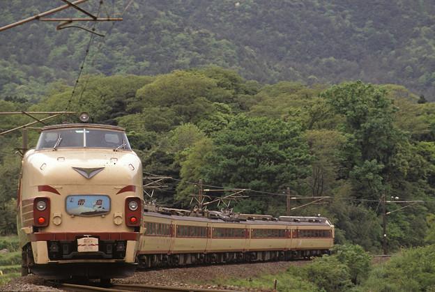 (再スキャン)1992年5月 485系特急雷鳥 大阪寄り先頭車