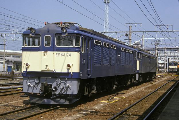1985年8月(フジクローム100)EF64二次車 松本駅にて