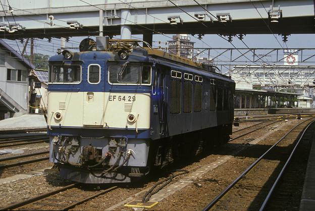 1985年8月(フジクローム100)EF64一次車 松本駅