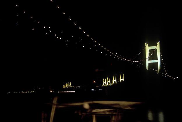 1988年11月 瀬戸大橋イルミネーション全景