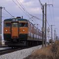 Photos: 1986年頃 115系の離合(微妙)