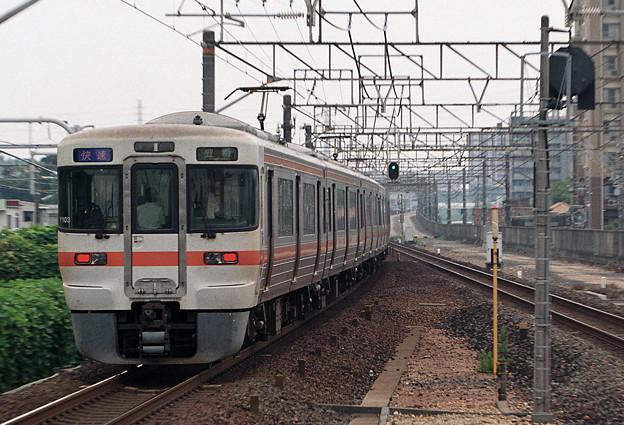 【ネガ】上り通過列車 後追い